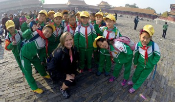 Kickin' it with the kids in the Forbidden City, Beijing.