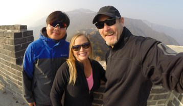 With our guide Hero on China's Great Wall.