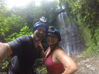 Canyoning in La Fortuna, Costa Rica.