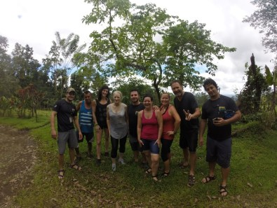 Our intrepid group of canyoning-ers. Or canyoners. Or canyoneers.