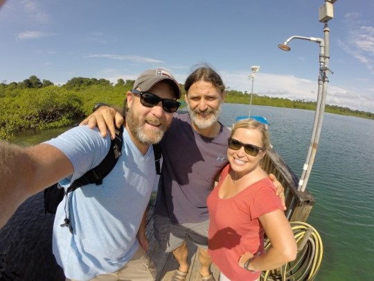 With our guide Ramon, at Tranquilo Bay, Panama.