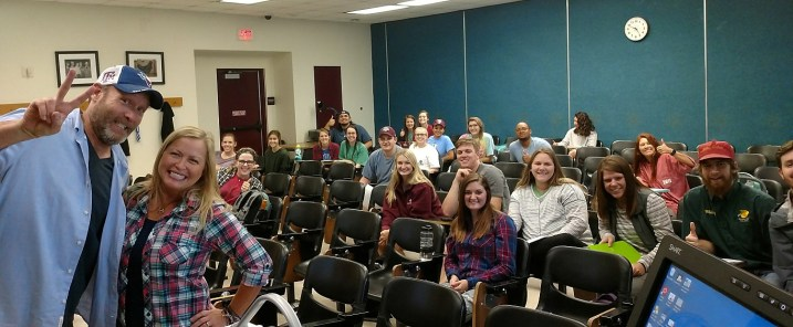 Warping the young minds of students in the RPTS department. LOL! Thanks for having us in class guys!