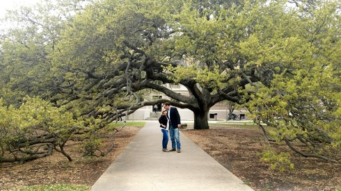True love on campus! Under the Century Tree.