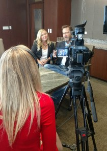 Interviewing before our presentation with KAGS TV And trying to say something thoughtful and halfway intelligent.