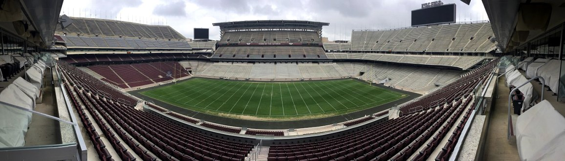 A panorama of Kyle Field from one of the suites. Wow! Can't wait to see a game in this house!