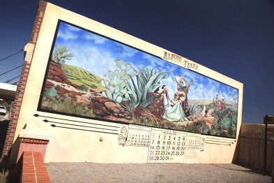 One of the many colorful, fantastic murals in downtown Alpine!