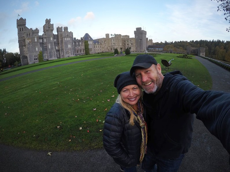 And outside the village of Cong? This incredible place! The spectacular Ashford Castle in Ireland! Stayed here a couple of nights, and it's absolutely amazing.
