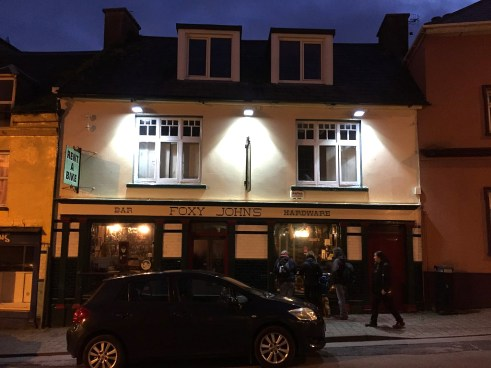 ...and threw back a couple of pints at Foxy John's, an awesome little traditional Irish pub, that is also half hardware store!