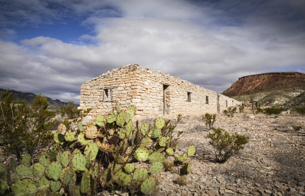 The ghost town. Remnants of the Buena Suerte mine in Big Bend State Park.