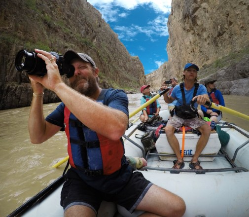 Getting into Santa Elena Canyon with cameras ready!