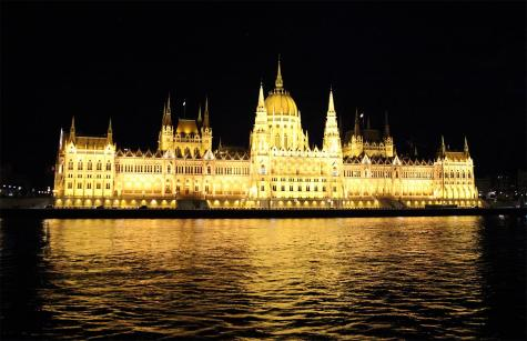 The Hungarian Parliament building at night. Gorgeous!