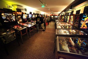 Just a few of the 150 new and classic pinball machines you can still play at the Budapest Pinball Museum. Sweet!