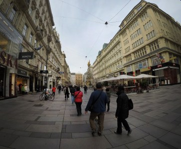 Central Vienna. Beautiful city! Love it!