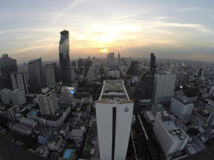 High above Bangkok to see the sunset from Cloud 47 bar and restaurant.