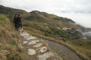 We stop for a sec while our guide Tony tells us about the terraces.