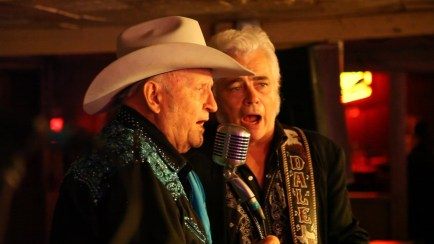 Two Austin legends on stage together. James White and the great Dale Watson!