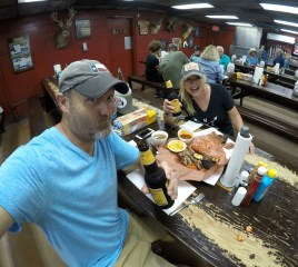 Cheers! Amazing Texas barbecue and cold Shiner Bocks. Heck yeah man!