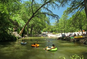 Escaped the Texas heat to soak in beautiful cool waters of Krause Springs outside of Austin. Love this spot!