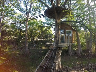 Our treehouse for the night at Cypress Valley Canopy Tours. How stinkin' cool is this?