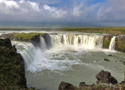 Godafoss Waterfall.
