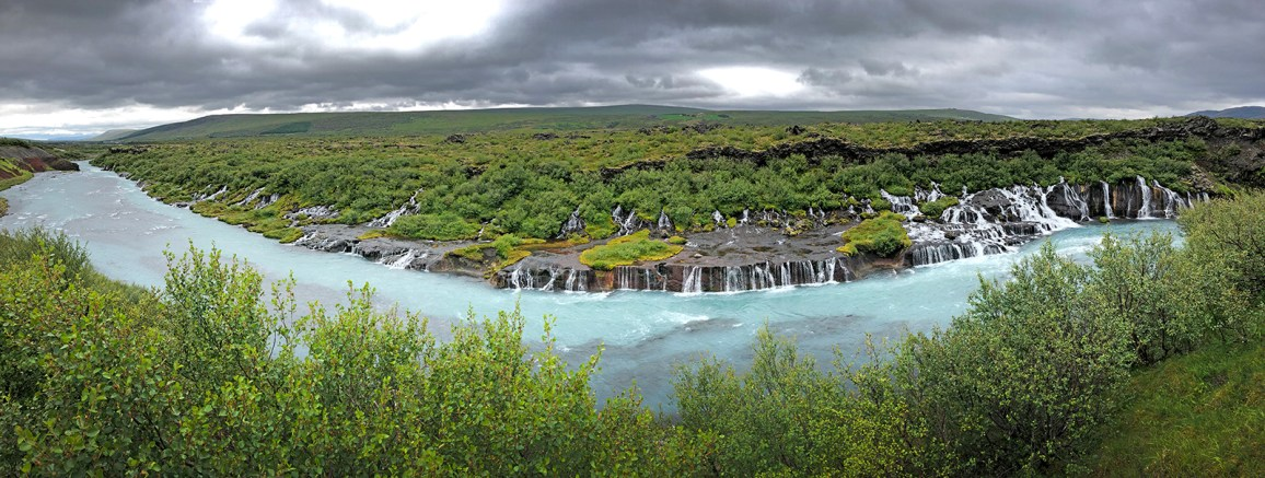 Lots and lots and lots of beautiful waterfalls in Iceland! Here are the maginifcent falls called Barnafoss.