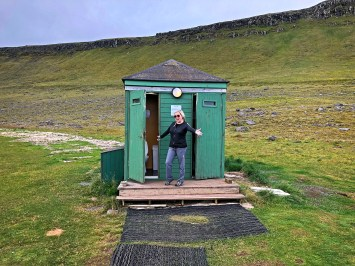 This, believe it or not, is the westernmost toilet in Iceland, which therefore makes it the westernmost toilet in Europe! We get to pee in the most interesting places.