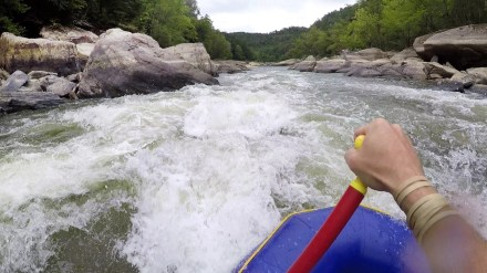 Rafting the Cumberland River with Sheltowee Trace Adventure Resort. So fun!