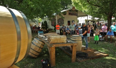 Lucky to be in Bardstown for the big annual Kentucky Bourbon Festival! Lots and lots going on all over town. Here's a bourbon barrel making demonstration!