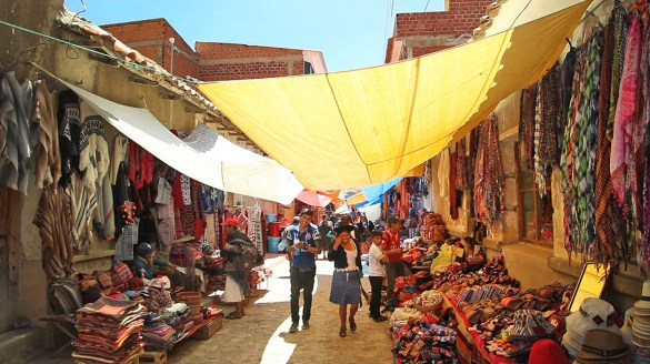 One of the markets in Tarabuco.
