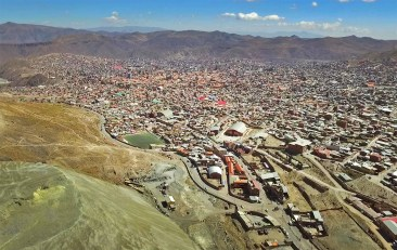 The city of Potosi. One of the highest cities in the world, at an elevation of almost 14,000 feet!