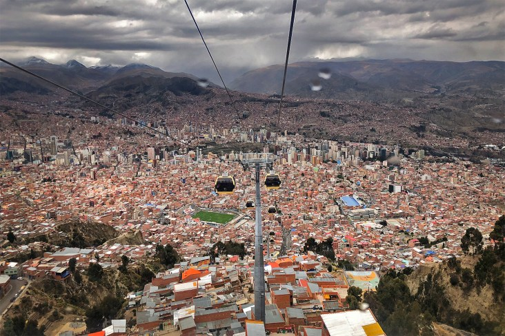 This is the very cool and very modern public transportation system in La Paz! And these telefericos also provide the BEST way to get spectacular views of this city. Great way to spend the day!