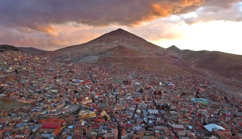 Cerro Rico rises above the city of Potosi.