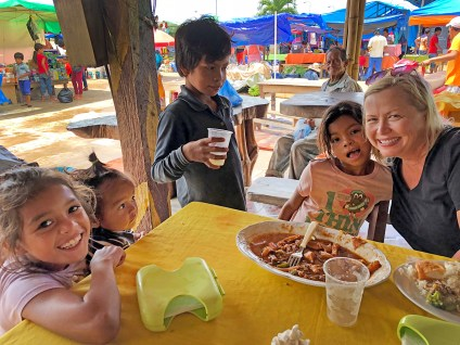 Made some precious new friends at a little restaurant in Rurrenabaque! We were all escaping a torrential rainstorm and we ducked into this place for a bite. Sweet kiddos! Love those faces!