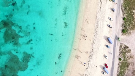 Aerial shot of Junkanoo Beach in Nassau. Beautiful!