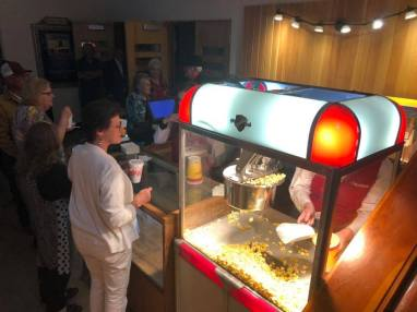 The fully restored original popcorn machine! Isn't that awesome?