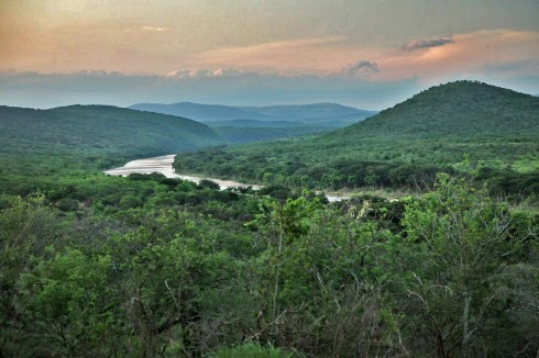 A final view of Umfolozi as the sun goes down. Gorgeous.