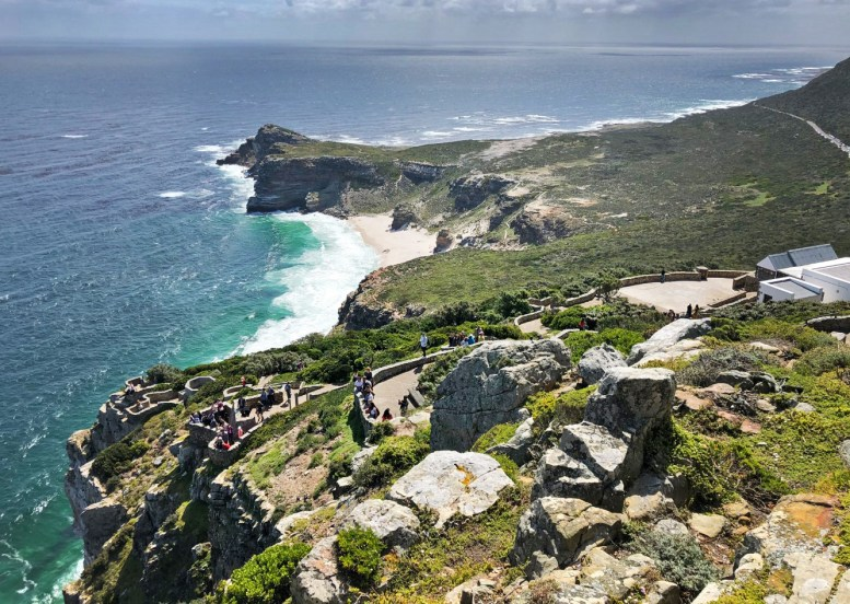 The Cape of Good Hope! Not the southermost point in Africa (as you might have believed) but the most southWESTernly point on the continent! Just a quick swim over to Antarctica LOL