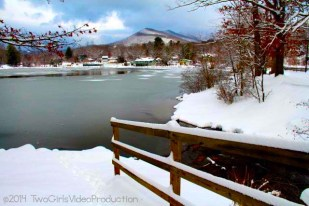 Winter at Lake Tomahawk, Black Mountain, NC
