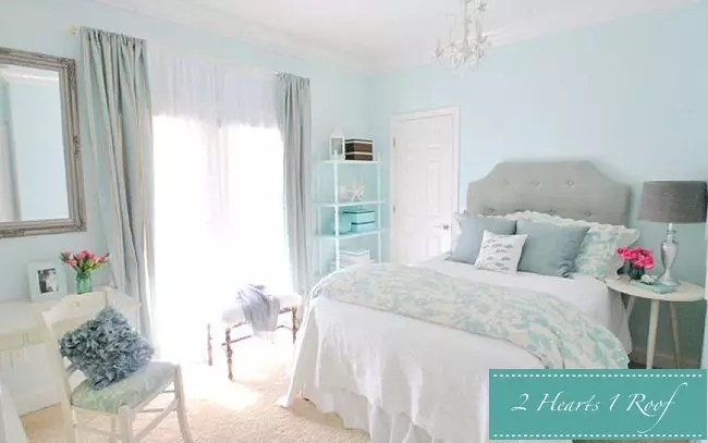 inspiring light green grey bedroom | Bedroom Inspiration - Grey and Turquoise - Two Hearts One Roof