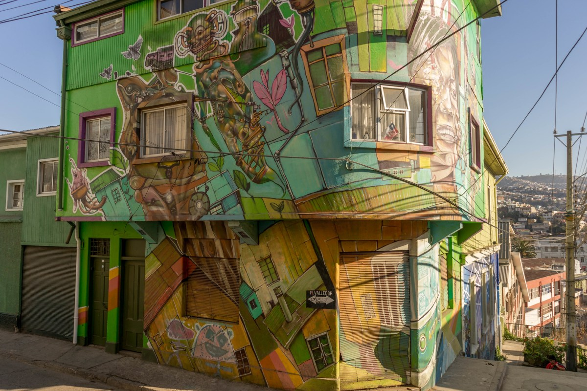 farverig bygning i Polanco
