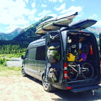 Our last days in VANdal with the gear garage chock full of toys for every kind of adventure.