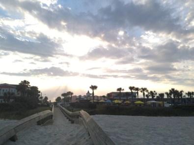 Looking back at Neptune Beach - cute little beach town.