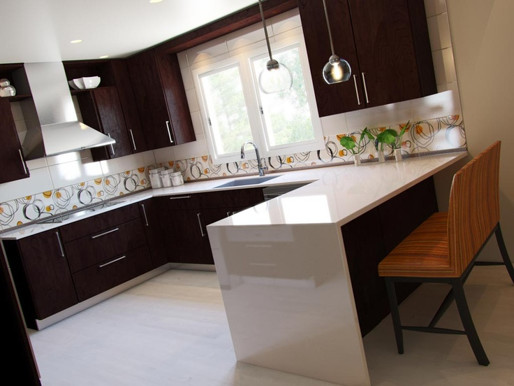 Kitchen Counter Seating | twoinspiredesign on Modern Kitchen Counter Decor  id=88193