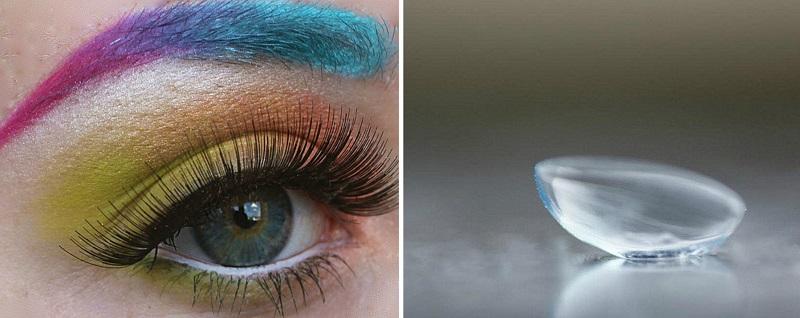 Makijaż a soczewki kontaktowe