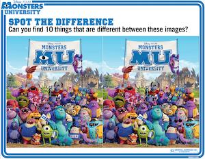 click on the images below to print free monsters university coloring pages and activity sheets and be sure to check out this new film when it hits theaters - Pixar Coloring Pages Monsters