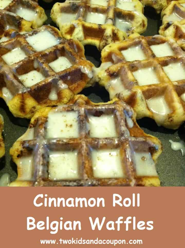 Cooking With Kids – Cinnamon Roll Belgian Waffles | Two ...