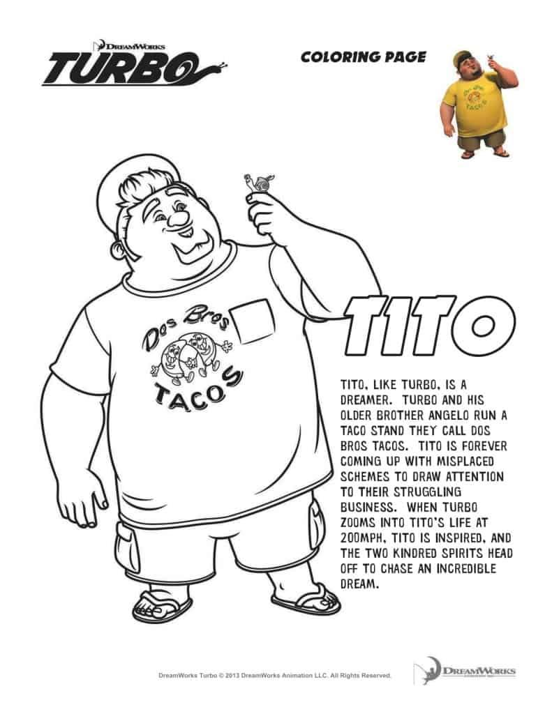 #turbofastfun – free turbo movie printable coloring pages
