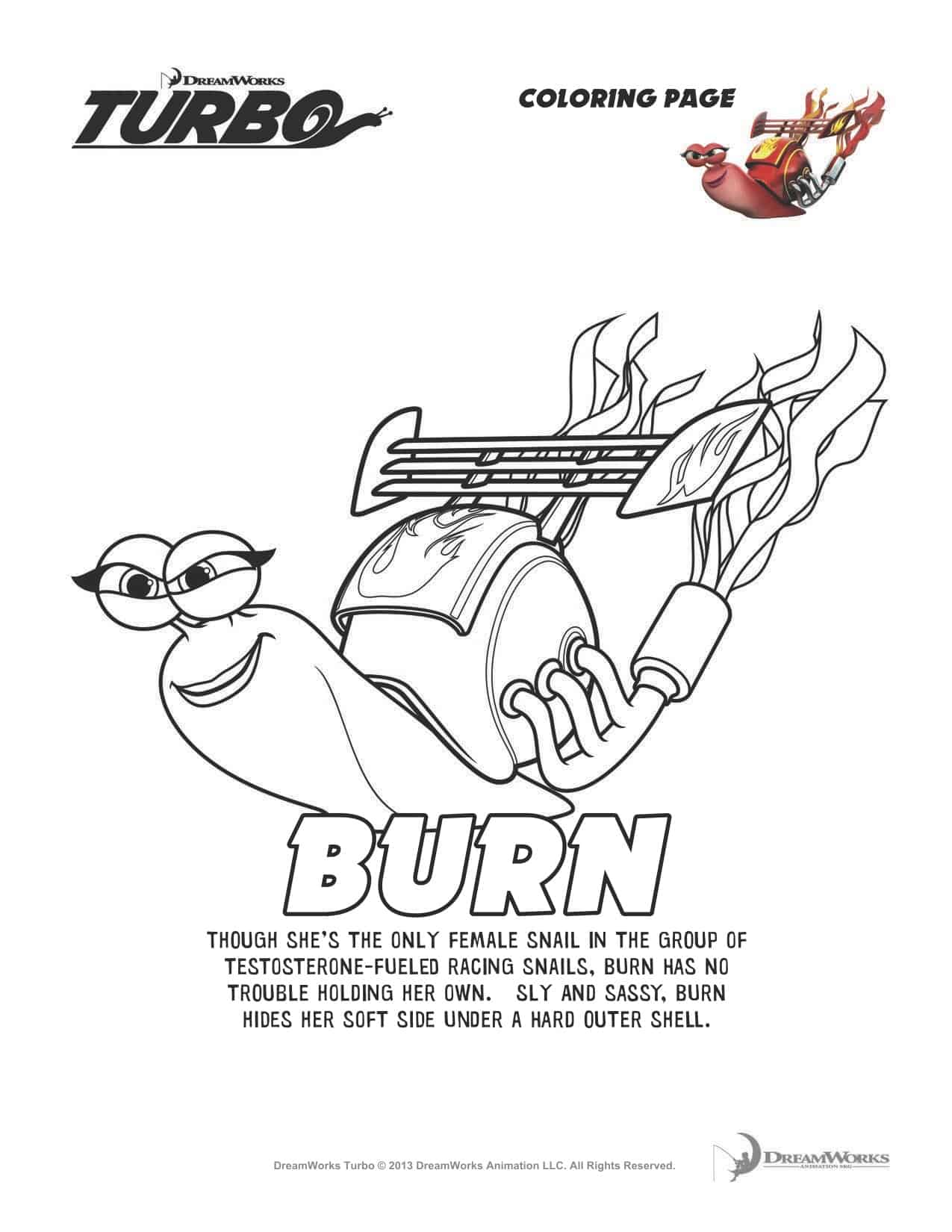 Turbofastfun Free Turbo Movie Printable Coloring Pages Plus Turbo Now Available In Stores