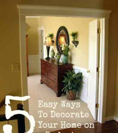 5 easy ways to decorate your home on a budget two kids and a coupon - How to decorate a house on a budget ...
