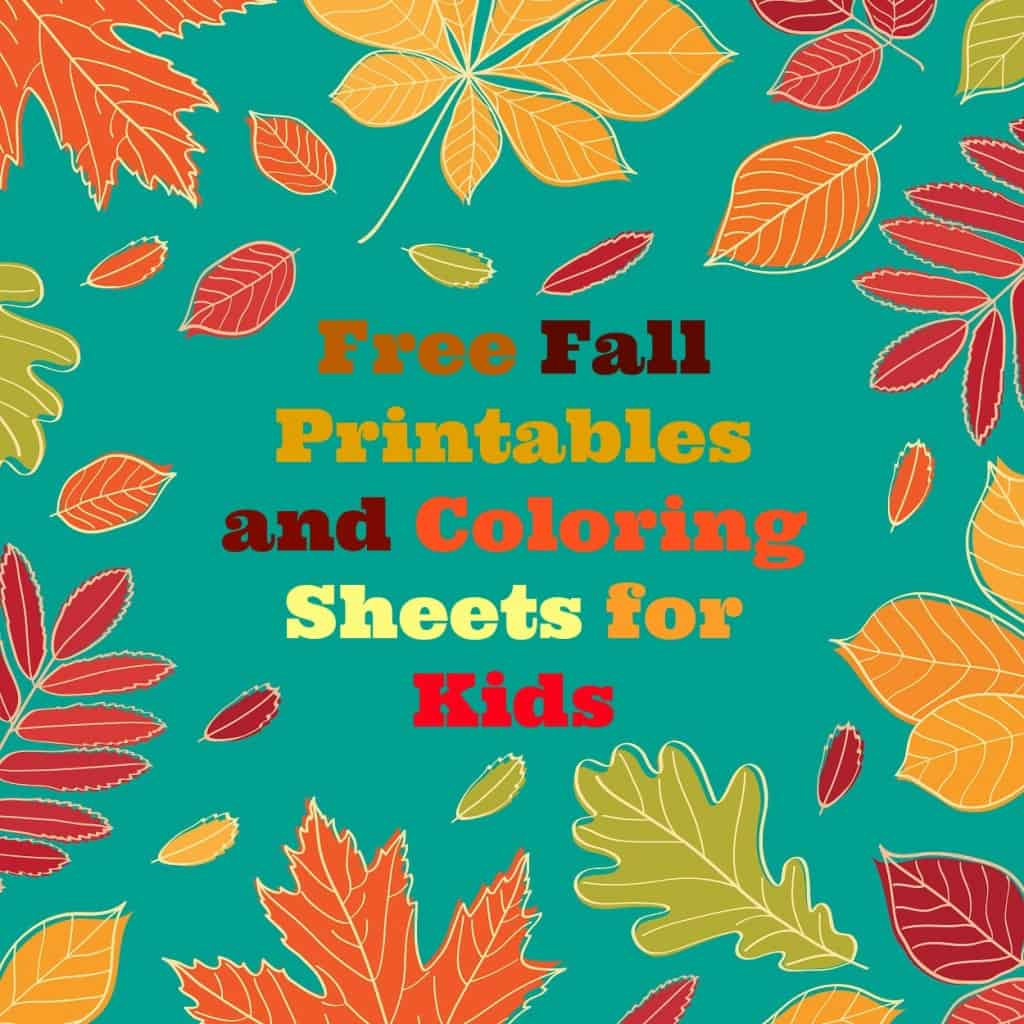 Make Autumn Fun With These Free Fall Kids Printables